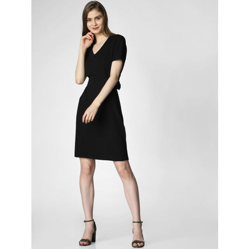 Vero Moda Women Black Solid Sheath Dress