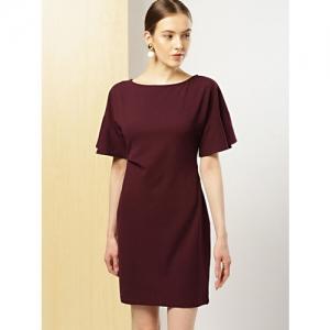 her by invictus Women Burgundy Solid Sheath Dress