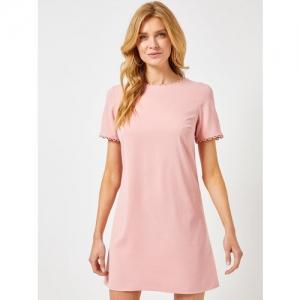 DOROTHY PERKINS Women Pink Solid A-Line Dress