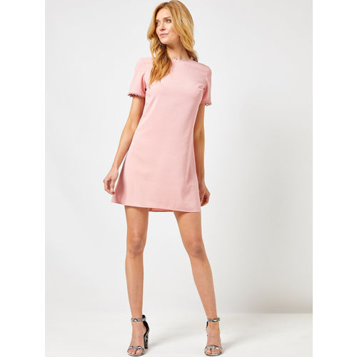 DOROTHY PERKINS Women Pink Solid A-Line Dress