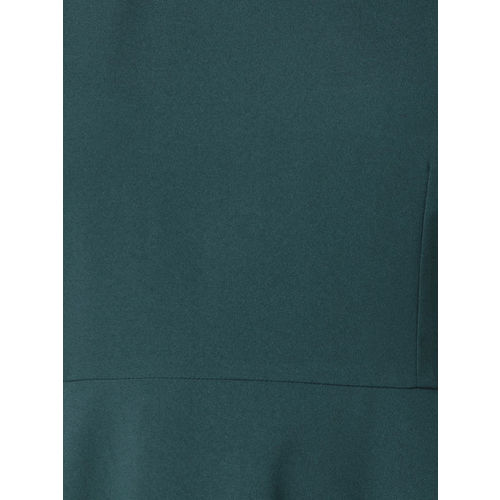 FabAlley Curve Women Green Embellished Fit and Flare Dress