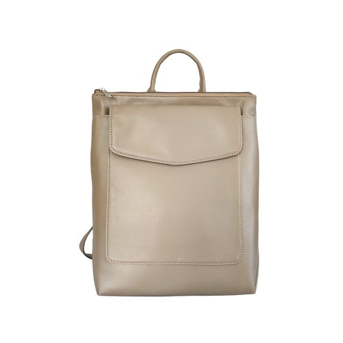 Toteteca beige leatherette regular backpack