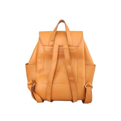 Toteteca orange leatherette (pu) fashion backpack