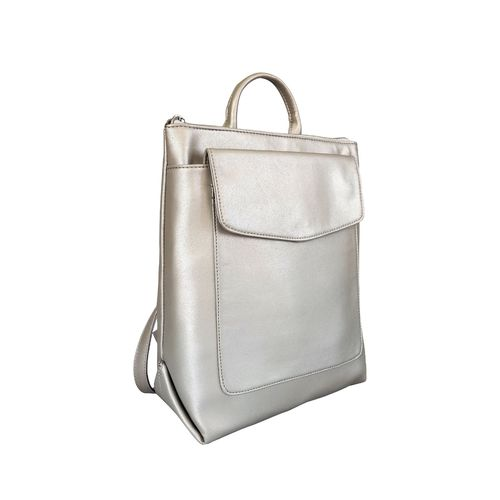 Toteteca silver leatherette regular backpack