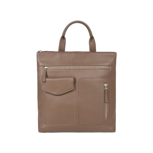 Toteteca beige leatherette (pu) regular backpack