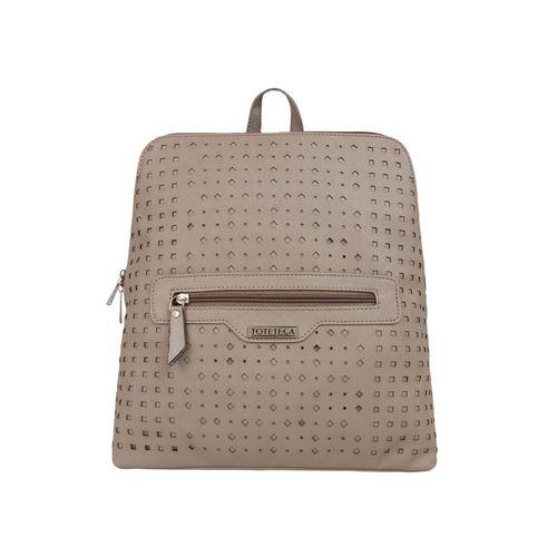 Toteteca brown leatherette (pu) fashion backpack
