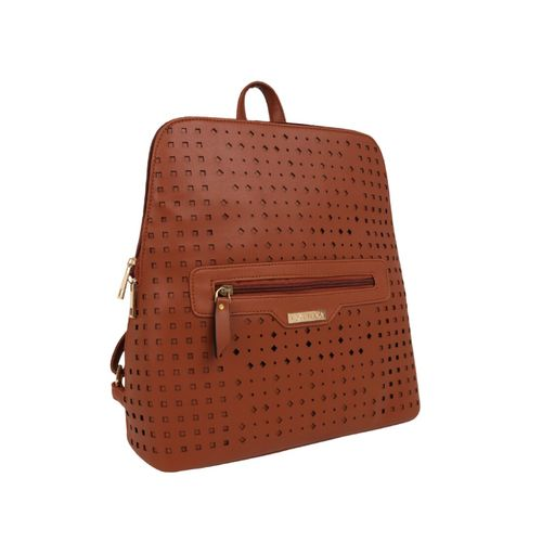 Toteteca tan leatherette (pu) regular backpack