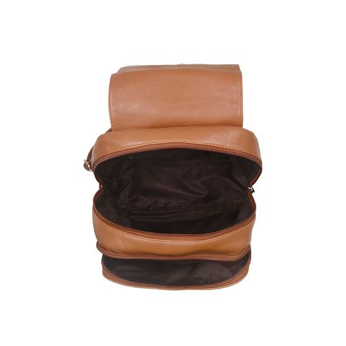 Toteteca tan leatherette (pu) regular backpack