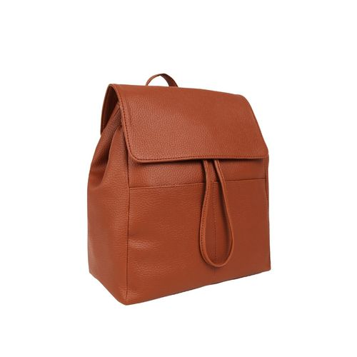 Toteteca tan leatherette (pu) fashion backpack