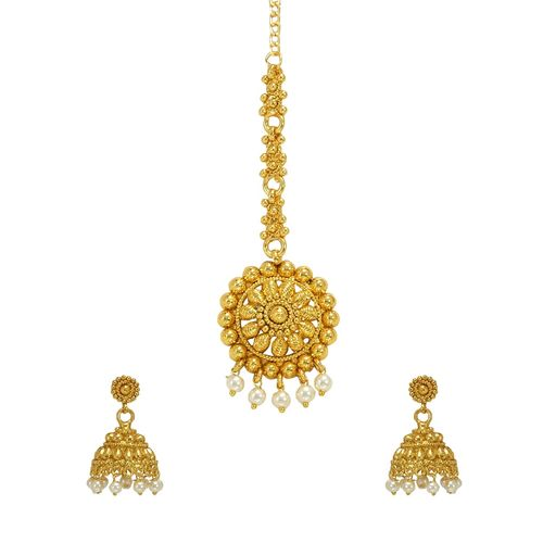 RAJKANYA gold metal long necklace