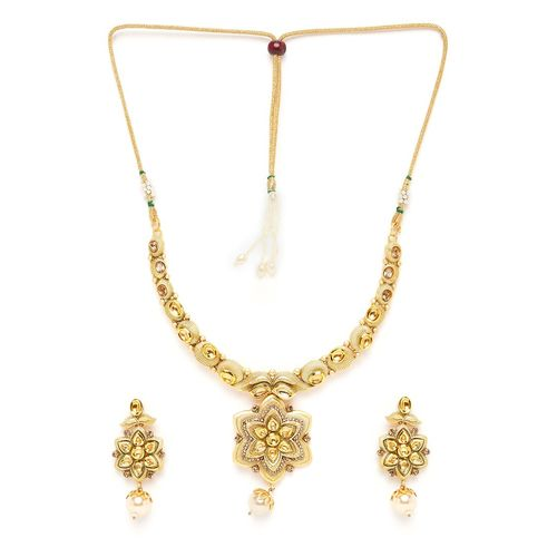 Panash gold plated short necklace