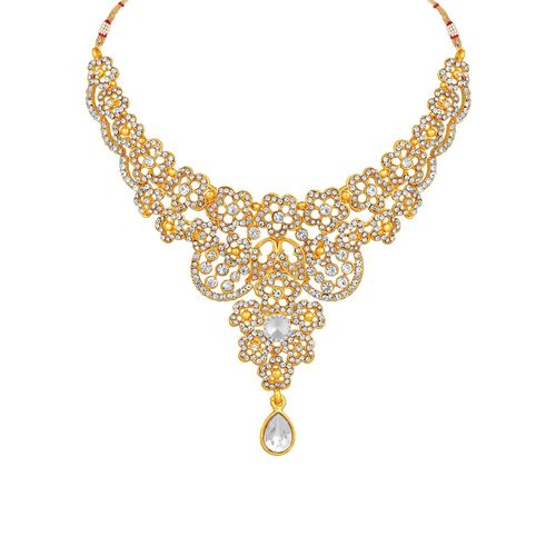 MFJ Fashion Jewellery gold brass necklaces and earring