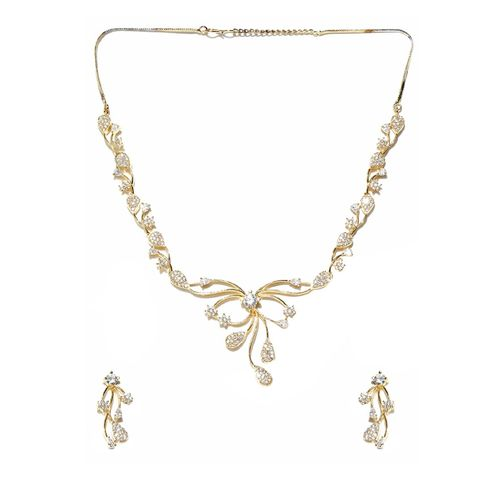 Jewels Galaxy gold brass chain necklace