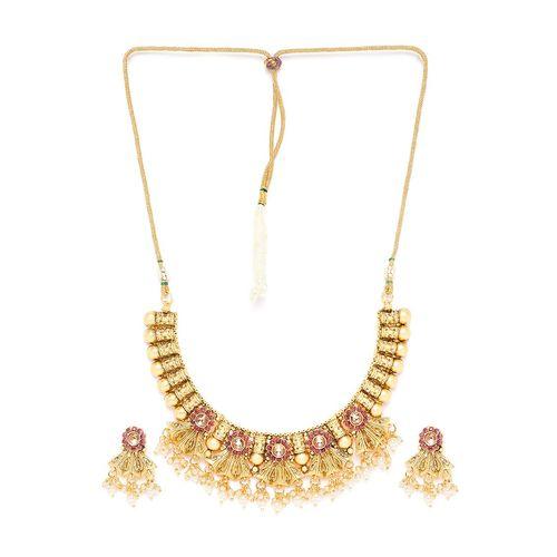 Panash gold metal short necklace
