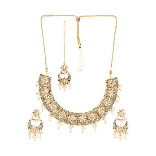 Panash gold metal choker necklace