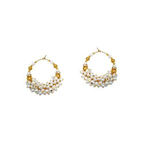 Bling Beautiful Accessories white gold tone pearl inspired earrings