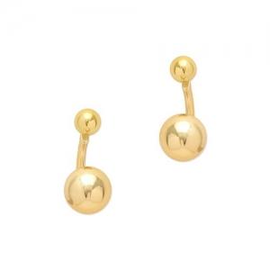Blueberry gold stud earrings