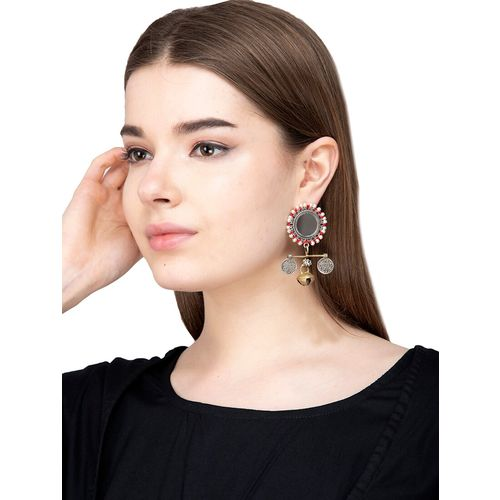 Anetra multi colored brass drop earring