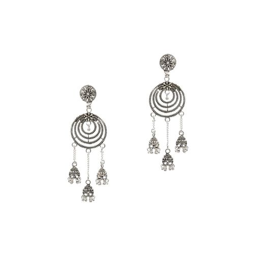 Silver Shine silver metal drop earring