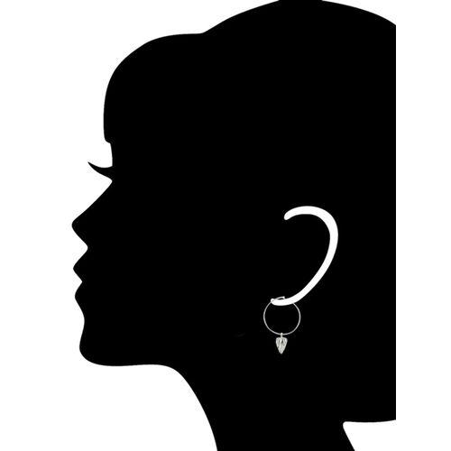 Arvino silver tone silver hoop earring