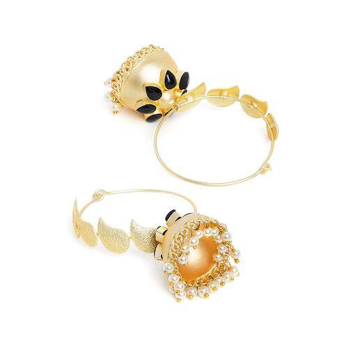 Panash black brass hoop earring