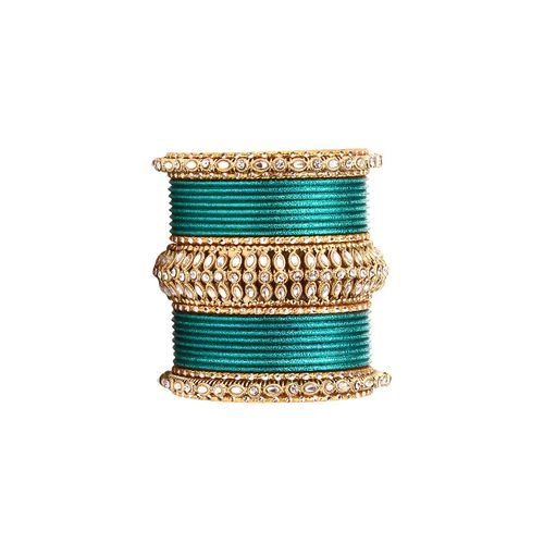 Leshya green metal bangle