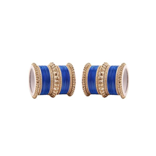 Leshya blue metal bangle