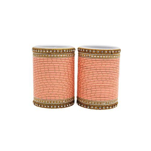 Leshya pink metal bangle