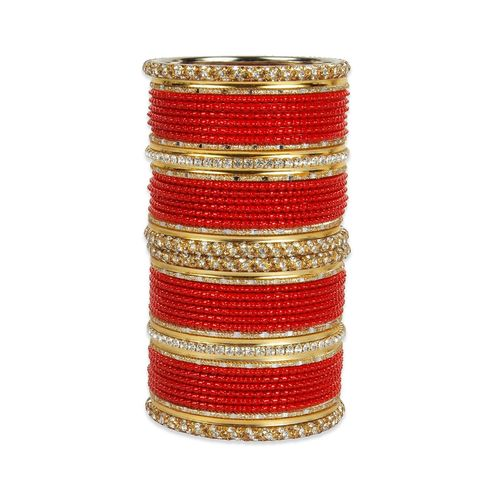MUCH MORE red metal bangle
