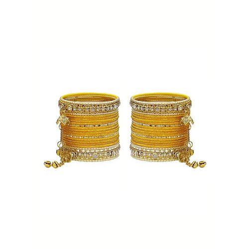 MUCH MORE yellow gold tone bangle