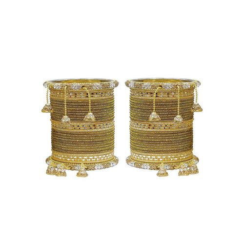 MUCH MORE gold metal bangles