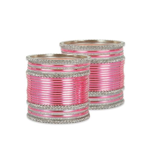 MUCH MORE pink metal bangle