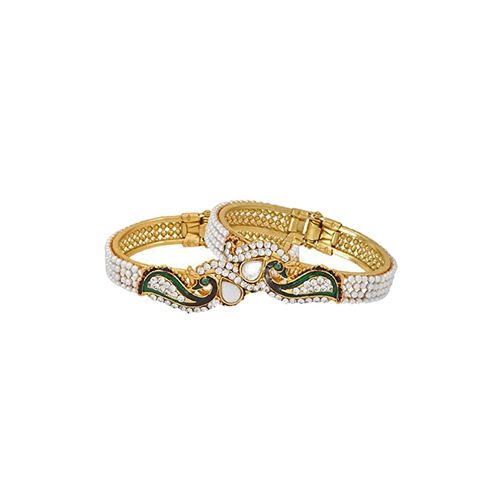Panash gold meenakari metal bangle