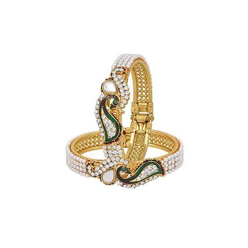 Panash gold meenakari metal bangle