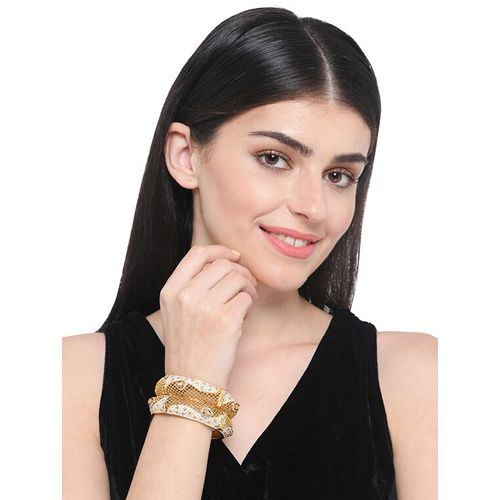 Imli street gold metal bangle