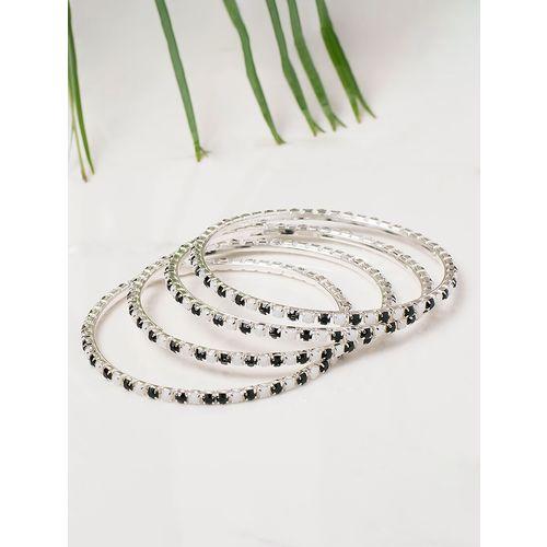Leshya black brass bangle