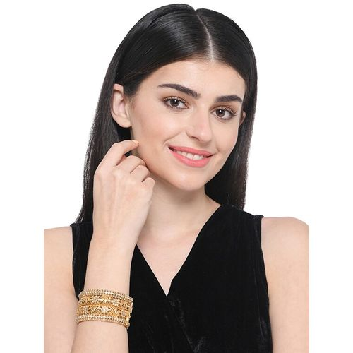 Imli street gold metal bangle