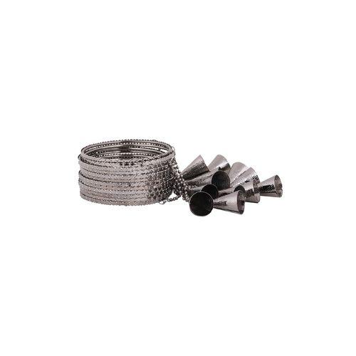 AMEEHA grey metal bangle