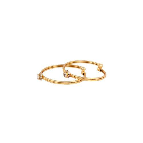 AMEEHA gold metal bangle