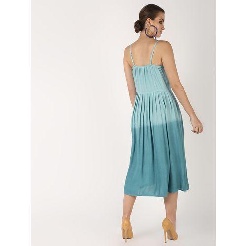 COLOR BLOC cami neck a-line dress