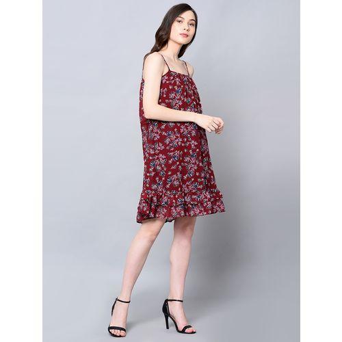 Amadore cami neck ruffled neck a-line dress
