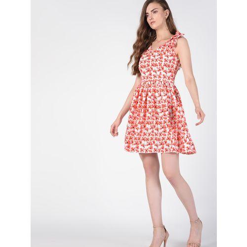 SOHO bow patch floral a-line dress