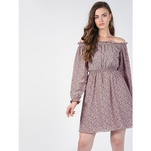 SOHO off shoulder smocked floral a-line dress