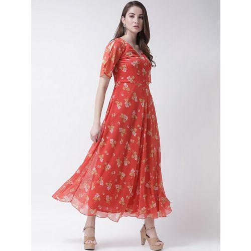 The Vanca slit sleeved flared maxi dress