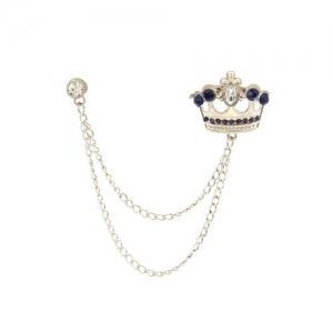 AJ Dezines blue silver brooch