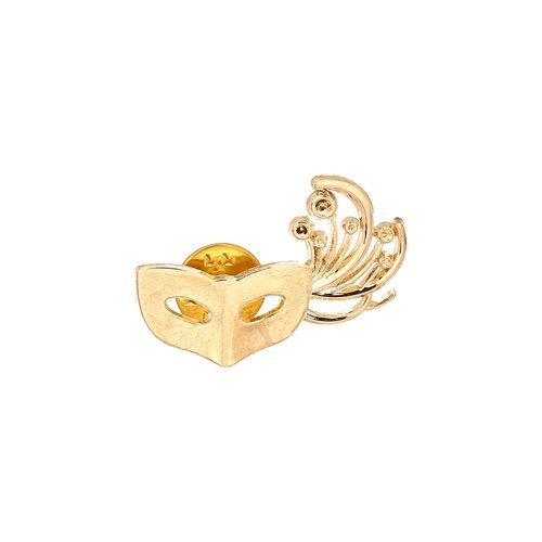AJ Dezines gold metal brooch