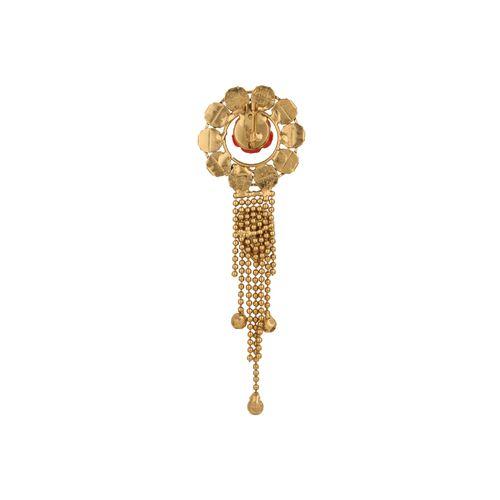 Kala-Kriti multi colored brass brooch