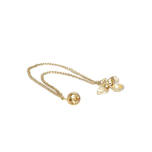 Blueberry gold brooch