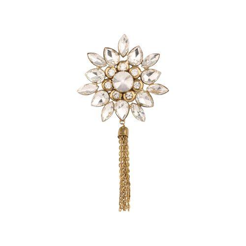 Kala-Kriti golden colored brass brooch