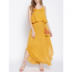 Mabish By Sonal Jain ruffled overlay maxi dress